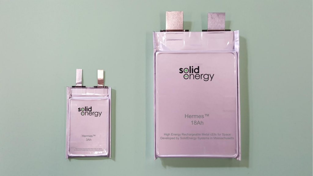 Hermes Batteries from Solid Energy